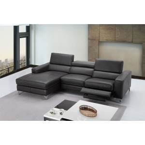 Ariana Premium Leather Sectional, Left Arm Chaise by J&M Furniture