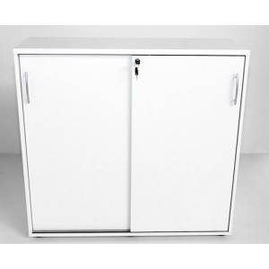 Standard 3OH Medium Office Storage Unit w/2 Sliding Doors, Height 44 1/2'' by MDD Office Furniture