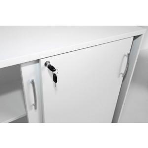 Standard 3OH Medium Office Storage Unit w/2 Sliding Doors, Height 44 1/2'' by MDD Office Furniture