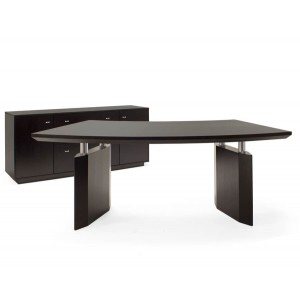 Bali Curved Wood Desk by Sharelle Furnishings