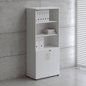 Basic Tall Office Half Bookcase by MDD Office Furniture