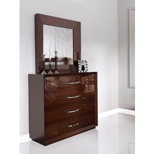 Carmen Single Dresser, Walnut by Franco Furniture