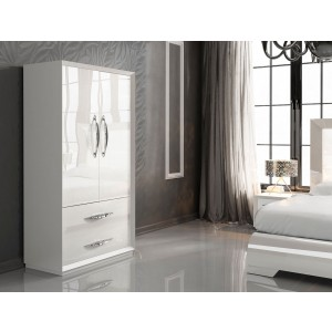 Carmen 2-Door Wardrobe, White by Franco Furniture