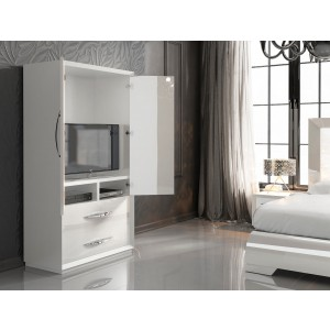 Carmen 2-Door Wardrobe, White by Franco Furniture