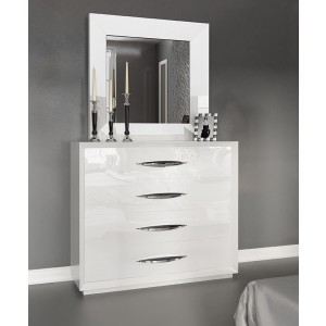 Carmen Single Dresser, White by Franco Furniture