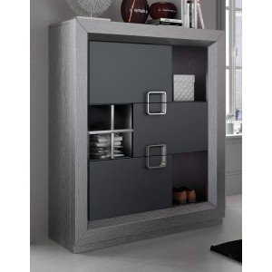 Enzo Modern Wood 3-Door Display Unit by Franco Furniture, Spain