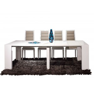 Bellini Lacquer/Leather Dining Room Set by Sharelle Furnishings
