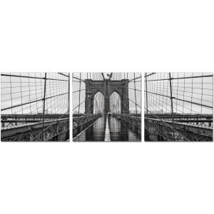 Premium Acrylic 3-Piece Wall Art Brooklyn Bridge Classic-SH-71438ABC by J&M Furniture