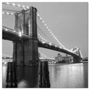 Premium Acrylic Wall Art Brooklyn Bridge II-SH-71598A by J&M Furniture