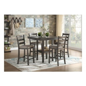 Sharon Transitional Counter Height Dining Room Set (Table + 4Chairs) by Homelegance