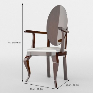 Carmen Modern Fabric Arm Chair by Franco Furniture