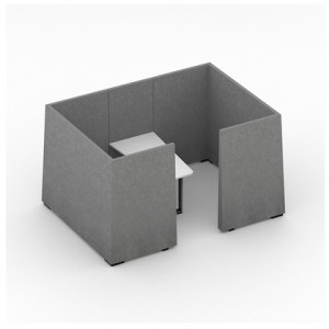Jazz Silent Box with 5Acoustic Walls, Desk, MDF Legs by NARBUTAS