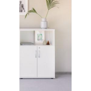 Standard Medium Office Half Bookcase Unit w/Door by MDD Office Furniture