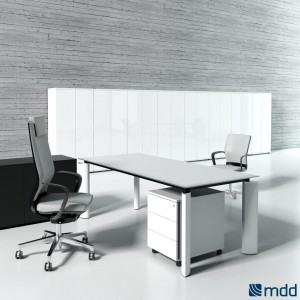 Crystal Executive Composition 2, White by MDD Office Furniture