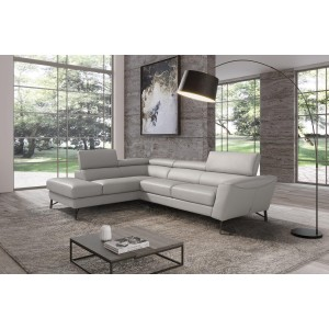 Dalton Leather Sectional Sofa by Diven Living