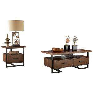 Sedley Wood Veneer Occasional Table Set by Homelegance