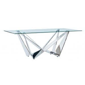 2061 Modern Rectangular Glass Dining Table by ESF Furniture