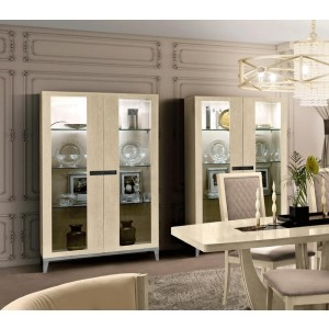 Ambra China Cabinet w/2 Doors & Wooden Sides by Camelgroup, Italy