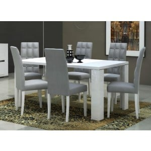 Elegance Modern Rectangular Wood Extendable Dining Table by Status, Italy