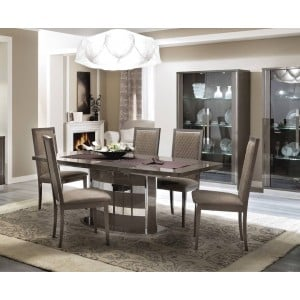 "Platinum Dining Table w/18"" Extension by Camelgroup, Italy"