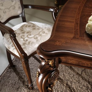 Donatello Classic Fabric Dining Arm Chair by ESF Furniture