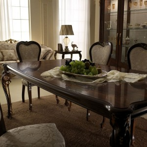 Donatello Classic Rectangular Wood Extendable Dining Table by ESF Furniture