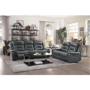 Darwan Leather Gel Match Living Room Set by Homelegance