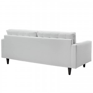 Empress Leather Sofa, White by Modway Furniture