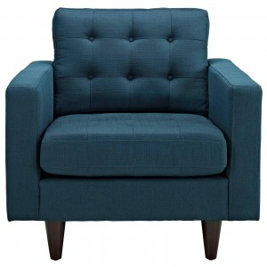 Empress Upholstered Armchair, Azure by Modway Furniture