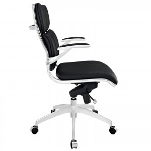 Escape Mid Back Office Chair, Black  by Modway Furniture