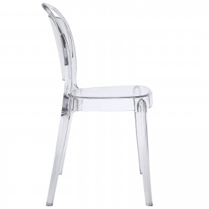 Entreat Dining Side Chair, Clear by Modway Furniture
