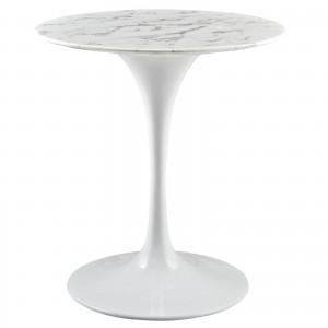"Lippa 28"" Artificial Marble Side Table by Modway Furniture"