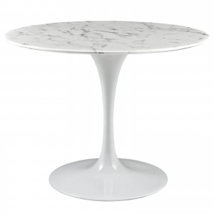 "Lippa 40"" Artificial Marble Dining Table by Modway Furniture"