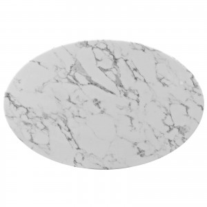"""Lippa 42"""" Oval-Shaped Artificial Marble Coffee Table by Modway Furniture"""
