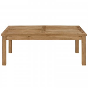 Marina Outdoor Patio Teak Rectangle Coffee Table by Modway Furniture