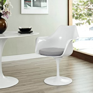 Lippa Dining Fabric Armchair, Gray by Modway Furniture