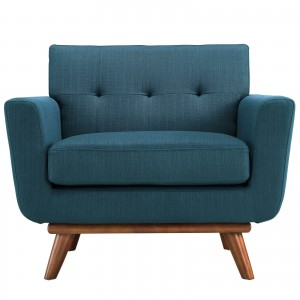 Engage Upholstered Armchair, Azure by Modway Furniture