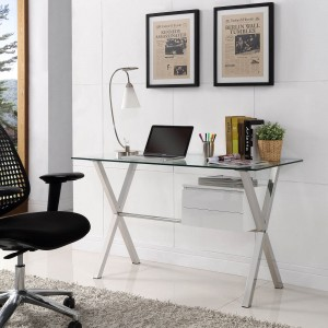 Stasis Office Desk, White by Modway Furniture