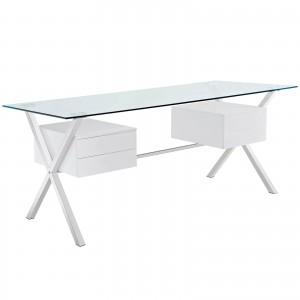 Abeyance Office Desk, White by Modway Furniture