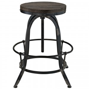 Collect Wood Top Bar Stool, Black by Modway Furniture