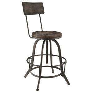 Procure Wood Bar Stool, Black by Modway Furniture