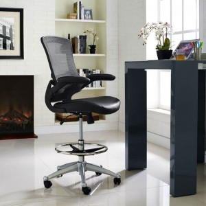 Attainment Drafting Stool, Black by Modway Furniture
