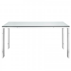Gridiron B Stainless Steel Dining Table by Modway Furniture
