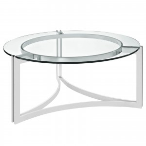 Signet Stainless Steel Coffee Table by Modway Furniture