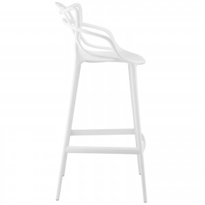 Entangled Bar Stool, White by Modway Furniture