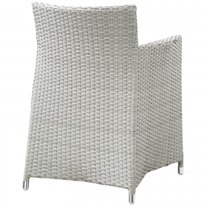 Junction Outdoor Patio Armchair, Gray + White by Modway Furniture