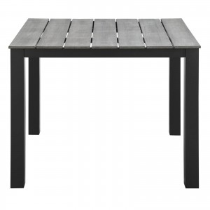 """Maine 40"""" Outdoor Patio Dining Table, Brown + Gray by Modway Furniture"""