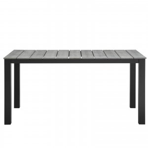 """Maine 63"""" Outdoor Patio Dining Table, Brown + Gray by Modway Furniture"""