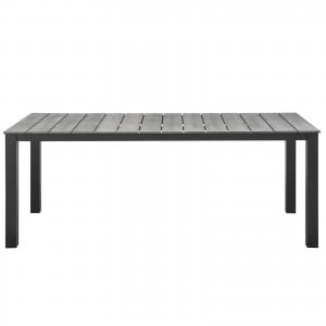 """Maine 80"""" Outdoor Patio Dining Table, Brown + Gray by Modway Furniture"""