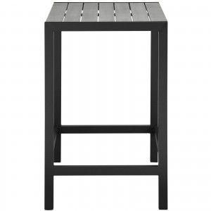 Maine Outdoor Patio Bar Table, Brown + Gray by Modway Furniture